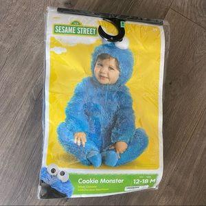 Sesame Street Cookie Monster Baby Costume 12-18mo